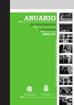 anuario 2006-2007.cdr - Escuela de Ciencias de la Información
