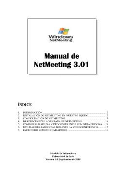 Manual NetMeeting - Universidad de Jaén