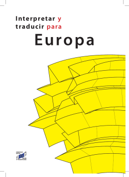 Interpretar y traducir para Europa - Translation Centre for the Bodies