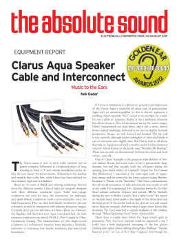 Clarus Aqua Speaker Cable and Interconnect