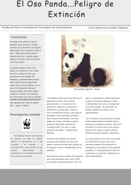 El Oso Panda...Peligro de Extinción