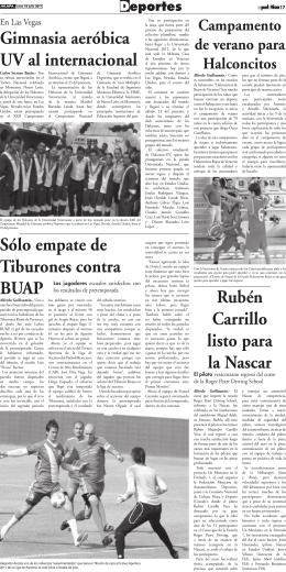 Gimnasia aeróbica UV al internacional Rubén Carrillo listo para la