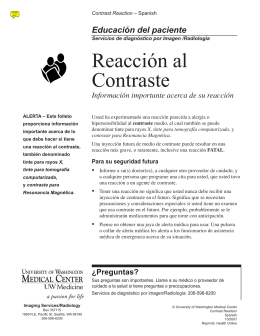 Reacción al Contraste - UWMC Health On-Line