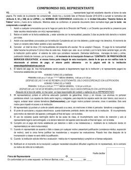 """compromiso del representante - UE """"Nuestra Señora de Fátima"""""""