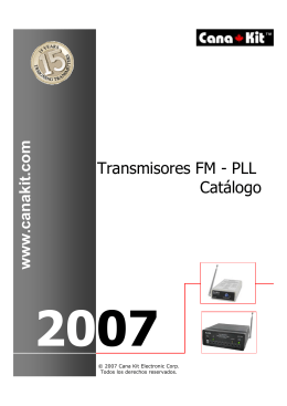 Transmisores FM - PLL Catálogo