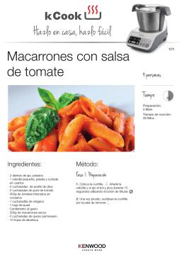 macarron con tomate