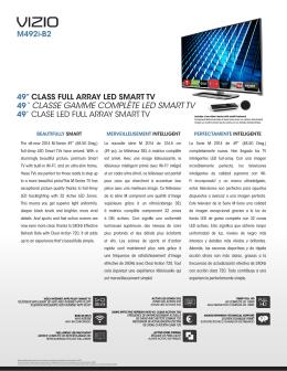 """49"""" CLASSE GAMME COMPLÈTE LED SMART TV"""