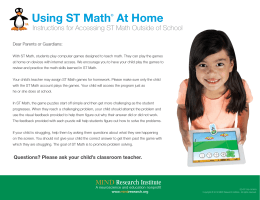 Using ST Math® At Home - Morse Elementary School