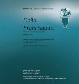 libreto: Doña Francisquita