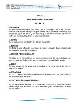 SALUD DICCIONARIO DE TÉRMINOS LETRA