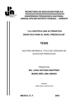 la ludoteca una - Biblioteca Gregorio Torres Quintero Universidad