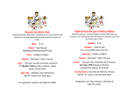 Karate for Kids Club Club de Karate para Niños