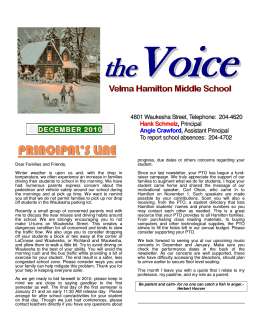 DECEMBER 2010 - Velma Hamilton Middle School