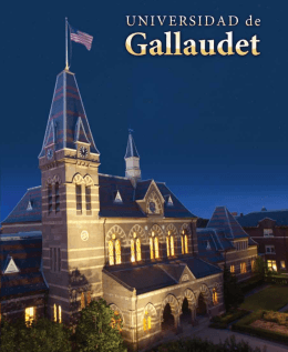 de los estudiantes - Gallaudet University