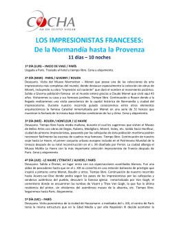 LOS IMPRESIONISTAS FRANCESES: De la Normandía