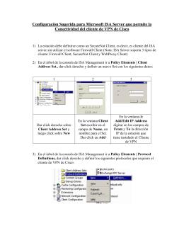 Configuracin de Microsoft ISA Server para permitir la Conectividad
