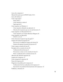 Acerca de su impresora 3 Manual del usuario para la EPSON Stylus