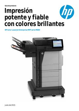Impresión potente y fiable con colores brillantes