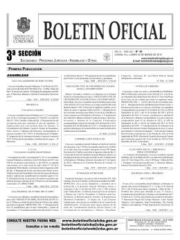 Boletín Oficial de Córdoba - 16 de Marzo 2015