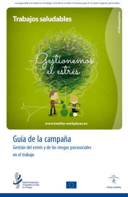 Guía de la campaña - Healthy Workplaces, Manage Stress