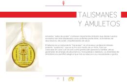 TALISMANES Y AMULETOS