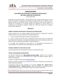 CONVOCATORIA B A S E S - Instituto de la Judicatura Federal
