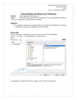 Tutorial Base de Datos con Netbeans