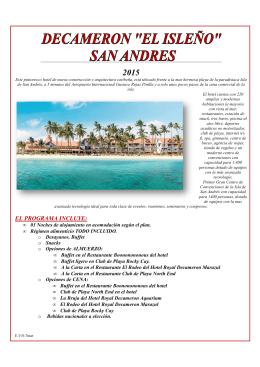 DECAMERON EL ISLEÑO -SAN ANDRES 03 NTS 2015
