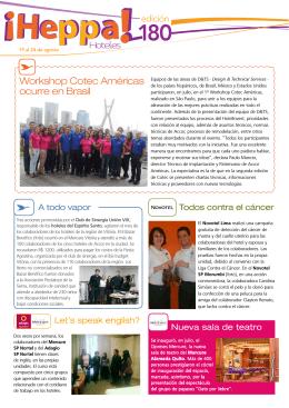 Workshop Cotec Américas ocurre en Brasil Hoteles