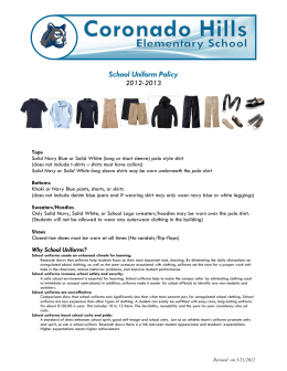 School Uniform Policy 2012-2013