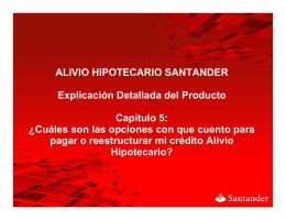 ALIVIO HIPOTECARIO SANTANDER