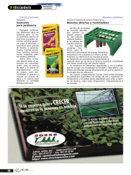 Macetas abiertas y reutilizables Sustratos para jardinería