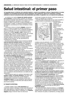Salud intestinal: el primer paso