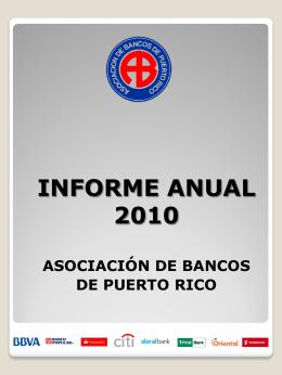 informe anual de la asociación de bancos de puerto rico