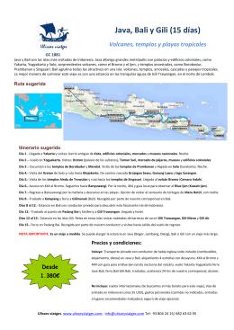 Java, Bali y Gili (15 días)