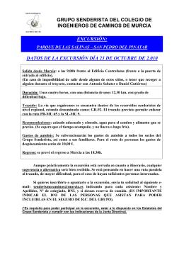 GRUPO SENDERISTA DEL COLEGIO DE INGENIEROS DE