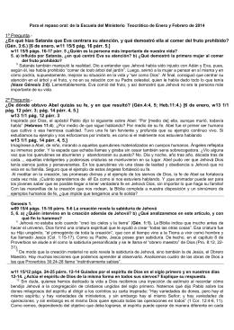 Puntos Sobresalientes Genesis 1 a 5