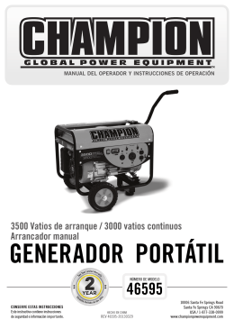 advertencia - Champion Power Equipment