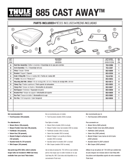 Thule 885 Cast Away Fishing Rod Rack Installation Instructions