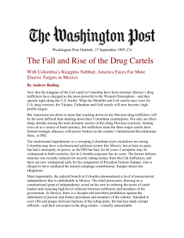 The Fall and Rise of the Drug Cartels