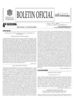 4º Sección: Licitaciones, Contratataciones, Notificaciones y Otras