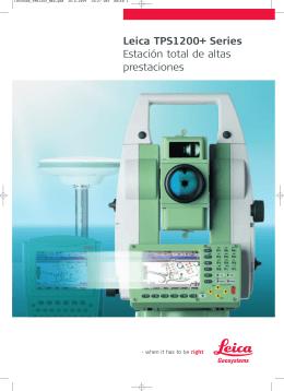 Leica TPS1200+ Series Estación total de altas prestaciones