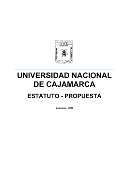 universidad nacional de cajamarca estatuto