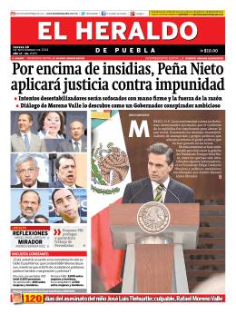 Por encima de insidias, Peña Nieto aplicará justicia contra impunidad
