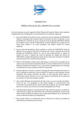 normativa normativa peñas oficiales del deportivo alaves peñas