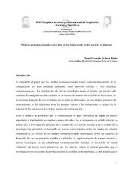 Modelos comunicacionales existentes en los formatos de redes