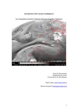 1 TELEDETECCIÓN: BASES TEÒRIQUES. Grup de Meteorologia
