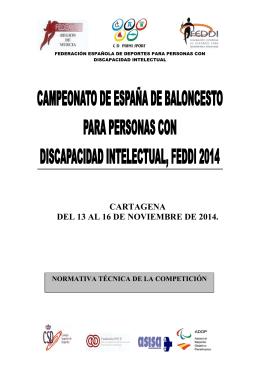Dossier Campeonato de España de Baloncesto FEDDI 2014