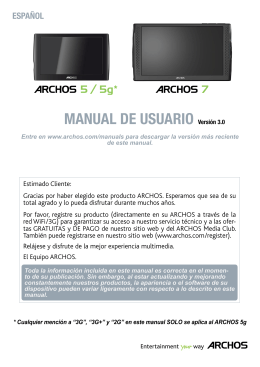 Manual de usuario - Archos 5-5g-7