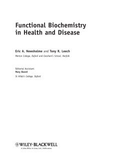Functional Biochemistry in Health and Disease by Eric
